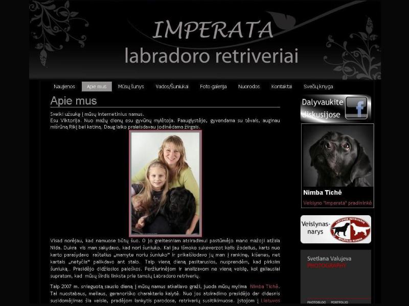 """Veislyno """"Imperata"""" tinklapis"""